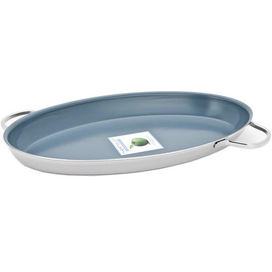 Tava ovala pentru peste 7-Ply, 45x24 cm, Granite Specialties - Demeyere