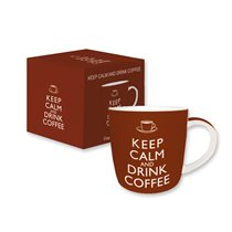 "Cana portelan 350 ml ""Keep calm and drink coffee"" - Nuova R2S"
