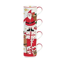 "Set 4 cani 275 ml ""Santa and Friends - Presents"" - Nuova R2S"