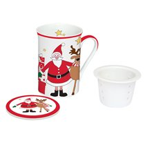 "Cana cu capac si infuzor 250 ml ""Santa and Friends"" - Nuova R2S"