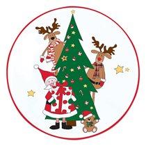 "Set platou si paleta tort  ""Santa and friends"", portelan, 32 cm - Nuova R2S"