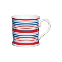 "Cana ""Red and blue stripes"" portelan 400 ml  - Kitchen Craft"