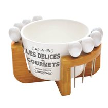 "Set servire aperitive 10 piese ""Delices Gourmets"" - Nuova R2S"