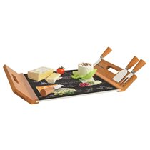"Set servire branzeturi 5 piese ""World of cheese"" 44 x 28 cm - Nuova R2S"
