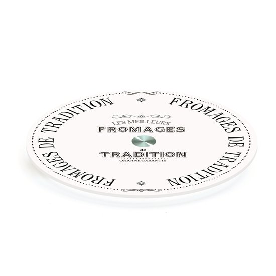 """Blat rotativ din sticla 32cm """"Fromages de Tradition"""" - Nuova R2S"""