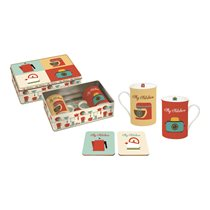 "Set 2 cani portelan 250 ml cu suport ""My Kitchen"" - Nuova R2S"