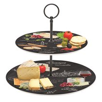 "Set 2 platouri etajate ""World of cheese"" 21,5-27,5 cm - Nuova R2S"