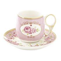 """Set ceasca espresso 125 ml cu farfurioara """"Heritage"""", roz - Nuova R2S"""