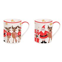 "Set 2 cani portelan 300 ml ""Christmas Friends"" - Nuova R2S"