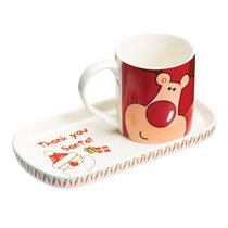 "Set cana 230 ml si farfurie ""Santa & Friends"" - Kitchen Craft"