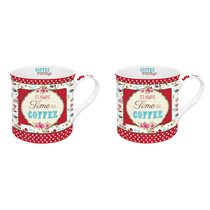 "Set 2 cani 300 ml ""It's always time for coffeee"" - Nuova R2S"