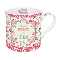 "Cana din portelan ""Time for tea"" 300ml - Nuova R2S"