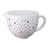 Bol ceramica 4,8 l, White with Pink Dots - KitchenAid