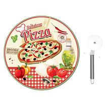 Set 2 piese servire pizza, rosu - Nuova R2S