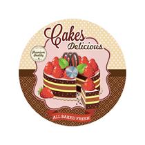 "Blat rotativ din sticla ""Cakes Delicious"" 32cm - Nuova R2S"