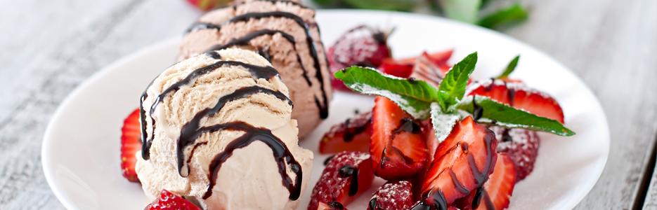 Îngheţată de vanilie şi de ciocolată