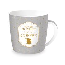 "Cana ""Coffee or Tea"" 350 ml din portelan - Nuova R2S"