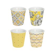 """Set 4 cesti cafea din portelan """"Trend & Colours"""", galben - Nuova R2S"""