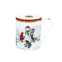 "Cana ""Snowman"" din portelan 300ml, design Craciun - Nuova R2S"
