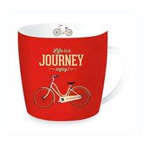 "Cana ""Journey"" din portelan 350ml, rosu - Nuova R2S"
