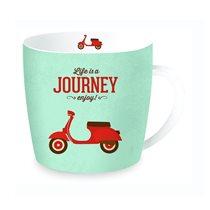 """Cana """"Journey"""" din portelan 350ml, turcoaz - Nuova R2S"""