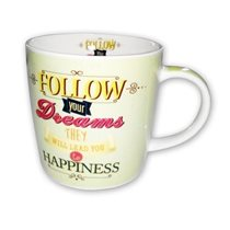 "Cana din portelan 350ml ""Follow your Dreams"" - Nuova R2S"