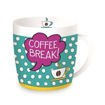 "Cana din portelan 350ml ""Coffee Break"" - Nuova R2S"