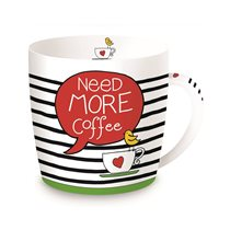 "Cana din portelan 350ml ""Need more coffee"" - Nuova R2S"