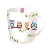 "Cana din portelan 350ml ""Owls"" - Nuova R2S"