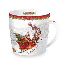 "Cana din portelan 350 ml ""Christmas Time - Santa's sleigh"" - Nuova R2S"