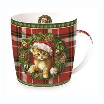 "Cana din portelan 350ml, ""Christmas Cat"" - Nuova R2S"