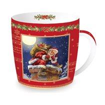 """Cana din portelan 350ml, """"Santa's Presents"""" - Nuova R2S"""
