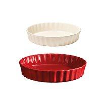 Set 2 tavi ceramice pentru tarte si prajituri - Emile Henry