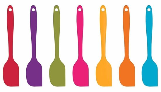 Spatula 20 cm silicon, portocaliu - Kitchen Craft