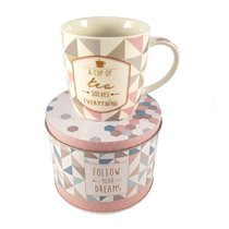 "Cana ""Coffee or Tea - Tea cup"" 350 ml din portelan - Nuova R2S"
