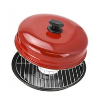 Grill pentru aragaz cu capac 33 cm otel-carbon - Vitesse
