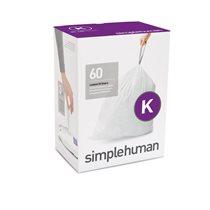 Saci de gunoi cod K, 35-45 L/ 60 buc. plastic - SimpleHuman