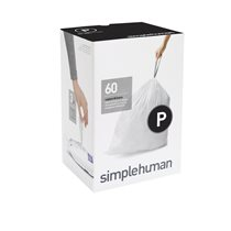 Saci de gunoi cod P, 50-60 L/ 60 buc. plastic - SimpleHuman