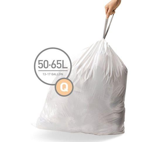 Saci de gunoi cod Q, 50-65 L/ 60 buc. plastic - SimpleHuman