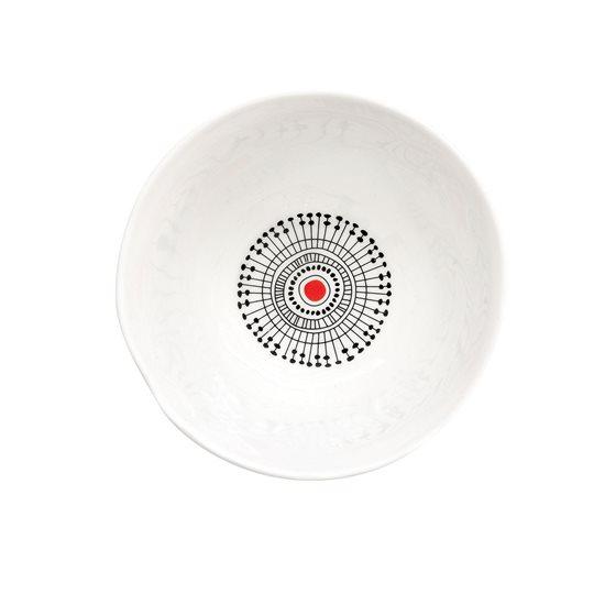 "Bol portelan ""Organic"" 16 cm, model Stripes rosu - Nuova R2S"
