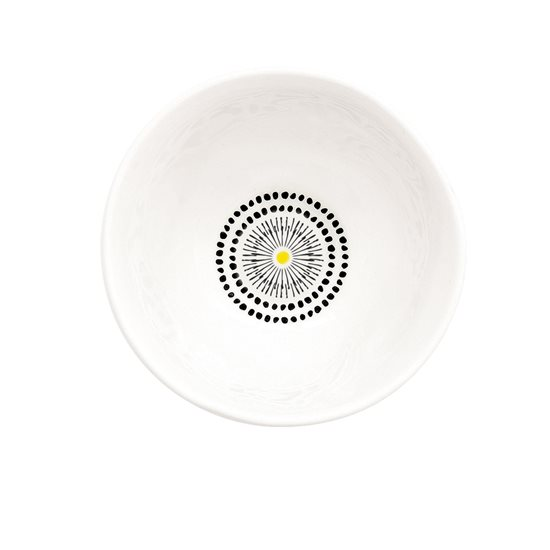 "Bol portelan ""Organic"" 10 cm, model Dots galben - Nuova R2S"