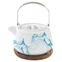 """Ceainic din portelan 750 ml cu suport """"Aqua"""" - Nuova R2S"""