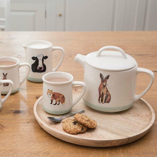 "Ceainic ""Apple farm"" 1,4 L ceramica, rabbit - Kitchen Craft"