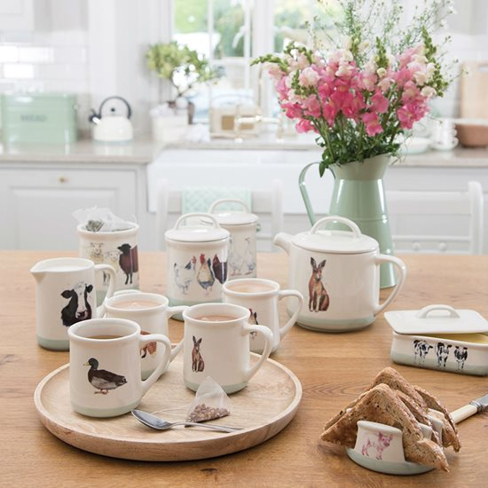 "Carafa ""Apple farm"" 500 ml ceramica, cow - Kitchen Craft"