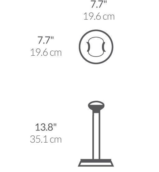 Suport rola prosoape de bucatarie - SimpleHuman