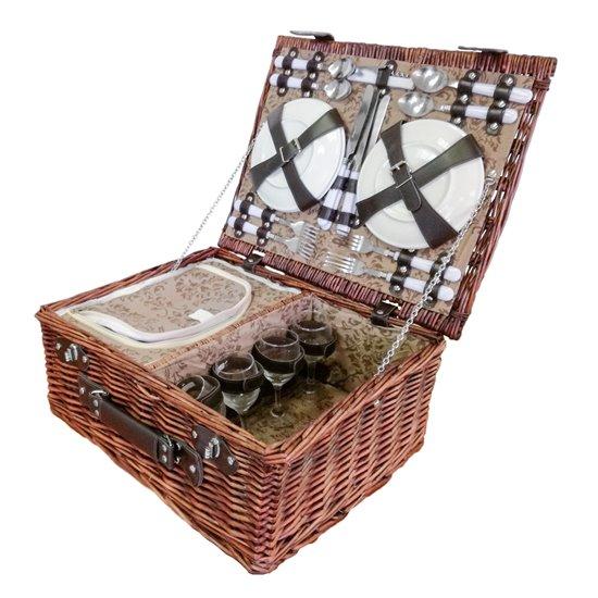 Cos pentru picnic 4 persoane (maro)