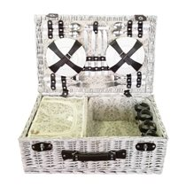 Cos pentru picnic 4 persoane (alb)