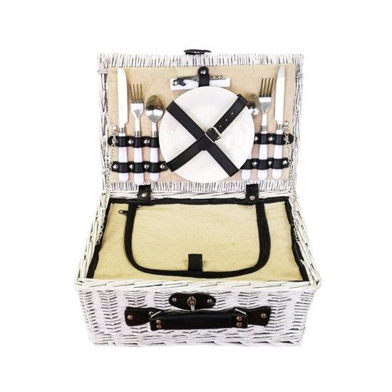 Cos pentru picnic 2 persoane (alb)
