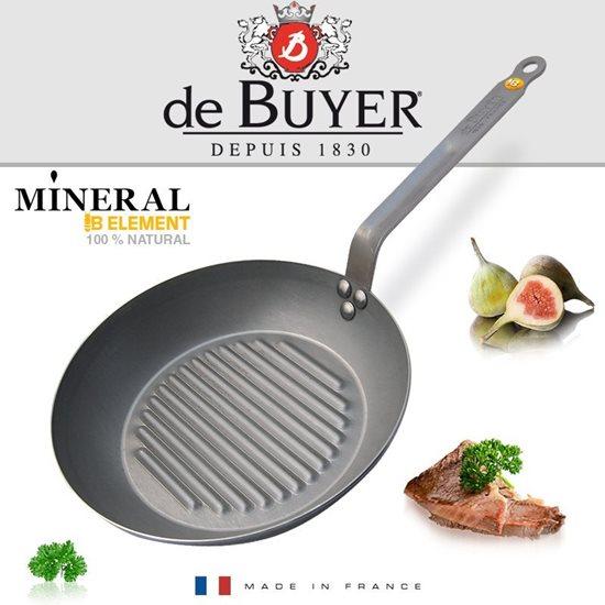 """Tigaie grill 26 cm """"MINERAL B"""" - de Buyer"""