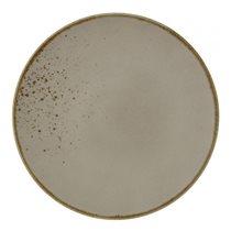 """Farfurie plata """"Stone Ware"""" 27 cm portelan, maro - Vivo"""